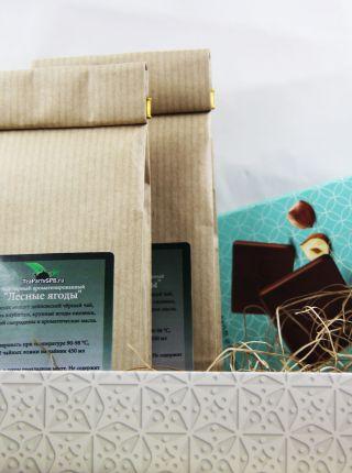 Подарочный набор  чая с шоколадом - «Брутальный»