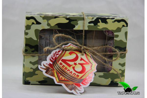 Подарочный набор с чаем - «С 23 февраля!»