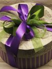 Подарочный набор в круглой коробке - «Лаванда» (чай, конфеты)