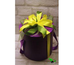 Подарочный набор в круглой коробке - «На все случаи» (чай, кофе, сладости)