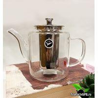 Заварочный чайник с металлической колбой 1100мл
