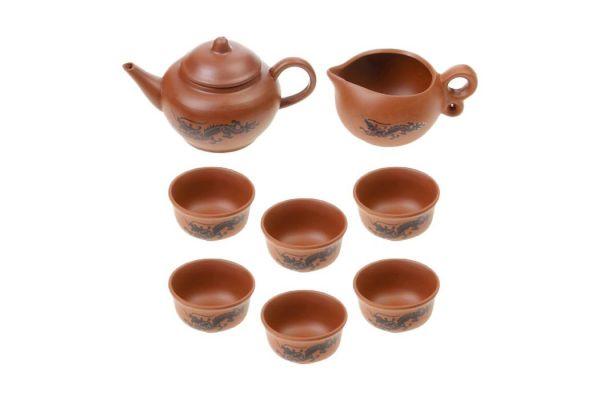 Набор посуды для чайной церемонии №6 (8 предметов, чайник 150мл, чахай 100мл, пиалы 30мл)
