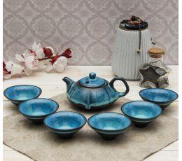 Набор посуды для чайной церемонии №10 (7 предметов, чайник, пиалы 6шт)