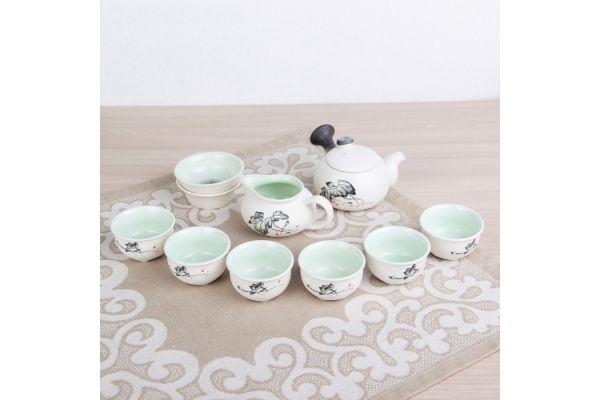 Набор посуды для чайной церемонии №11 (9 предметов, чайник 180мл, пиала 70мл)