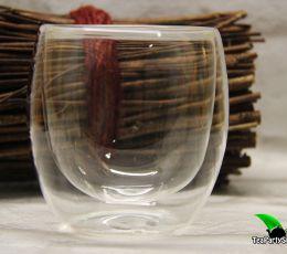 Стеклянный стакан с двойными стенками, объем 180 мл