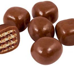 Драже Вафли в молочно-шоколадной глазури, 100г