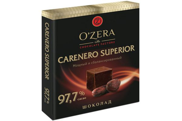 «O Zera» шоколад Carenero Superior 97,7%, 90г
