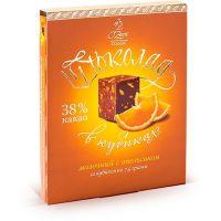 «O Zera» шоколад молочный с апельсином, 90г