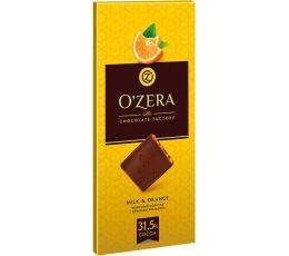«OZera», шоколад молочный с апельсиновыми цукатами, 100г