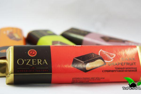 Шоколадный батончик с грейпфрутовой начинкой «O`Zera» Dark Grapefruit, 50г
