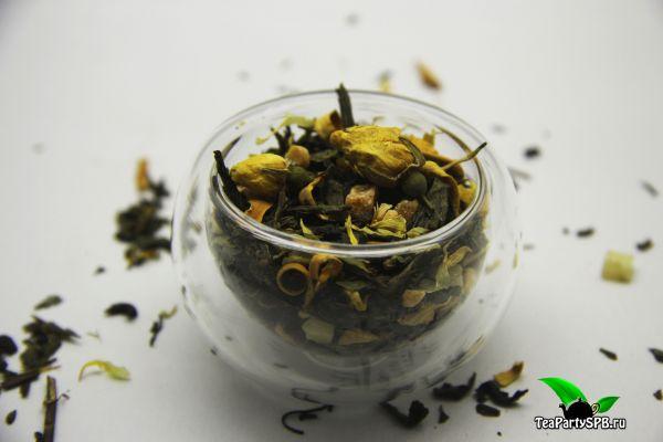 Чай зеленый ароматизированный - Сочная груша