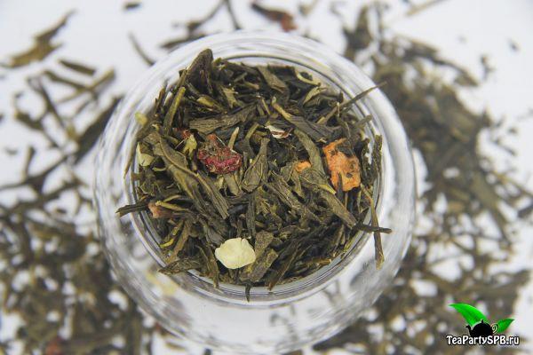 Зеленый ароматизированный чай - Брызги шампанского