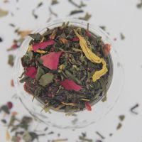Зеленый ароматизированный чай - Поцелуй дождя
