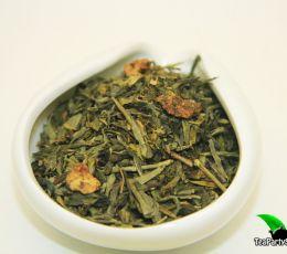 Зеленый ароматизированный чай - Земляника со сливками